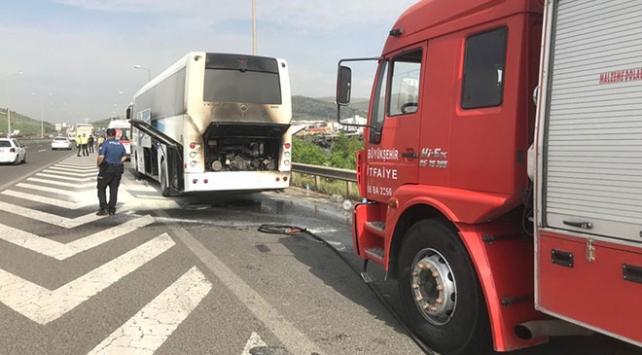 Ankara'da yolcu otobüsünde yangın