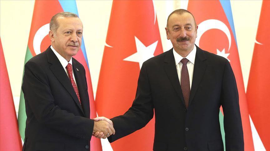 Cumhurbaşkanı Erdoğan Aliyev'i kutladı