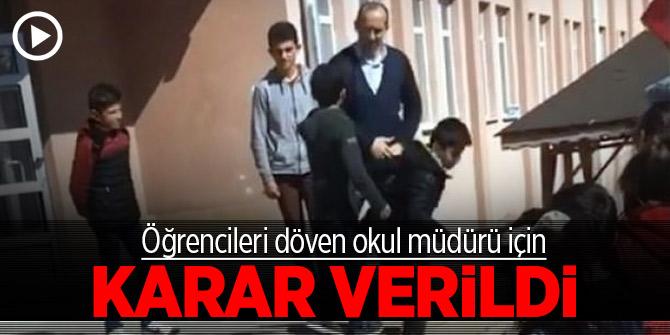 Öğrencileri döven okul müdürü için karar verildi