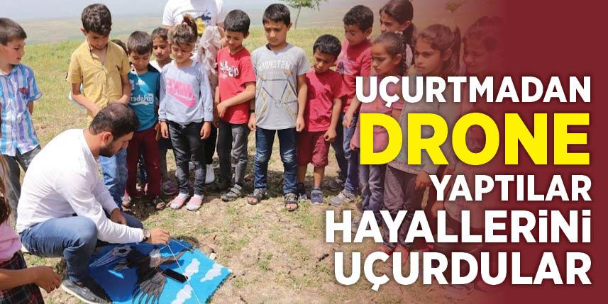Hayallerini uçurtma drone ile gerçekleştirdiler