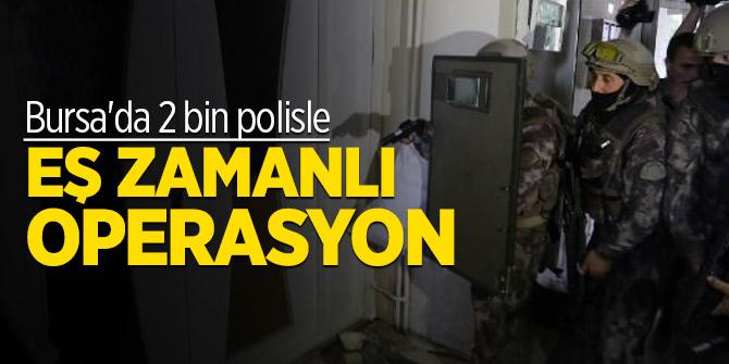 Bursa'da 2 bin polisle uyuşturucu operasyonu