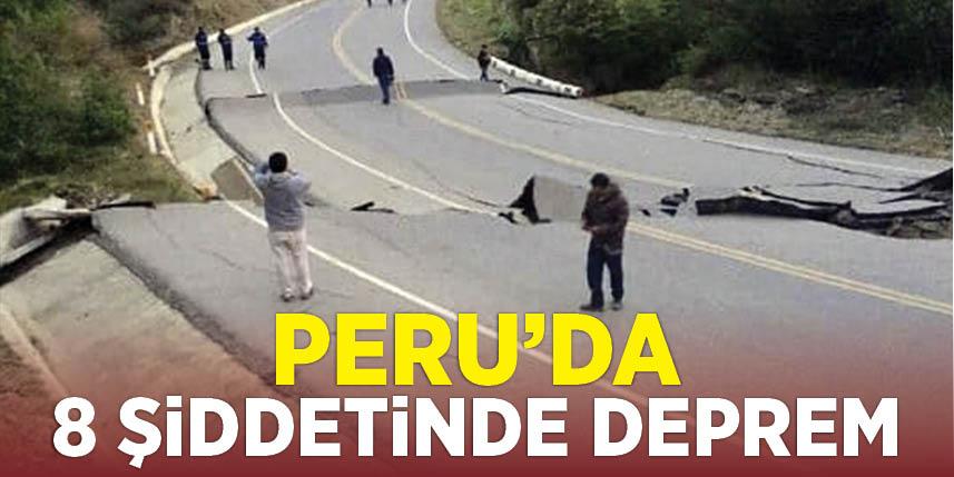 Peru 8 şiddetinde sallandı