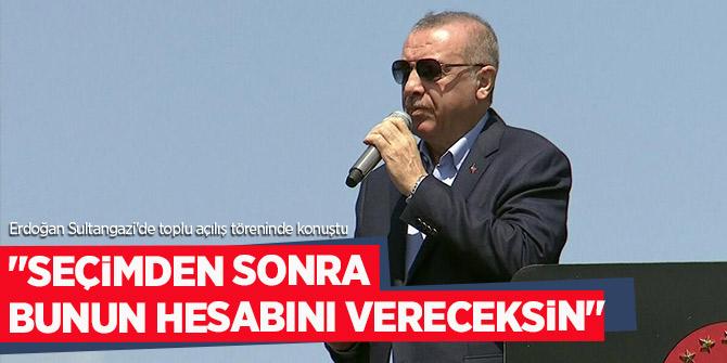 """Erdoğan, """"Seçimden sonra bunun hesabını vereceksin""""!"""