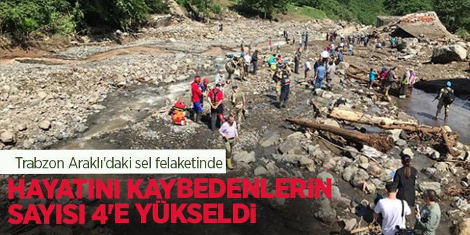 Sel felaketinde hayatını kaybedenlerin sayısı 4'e yükseldi!