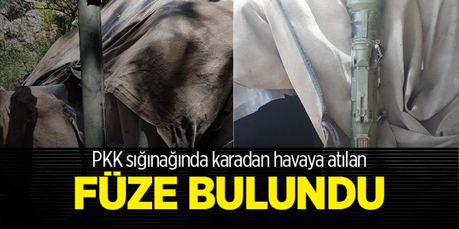PKK sığınağında omuzdan atılan füze bulundu