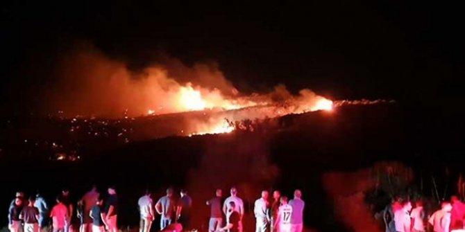Önce bir cisim düştü sonrası patlama ve yangın!