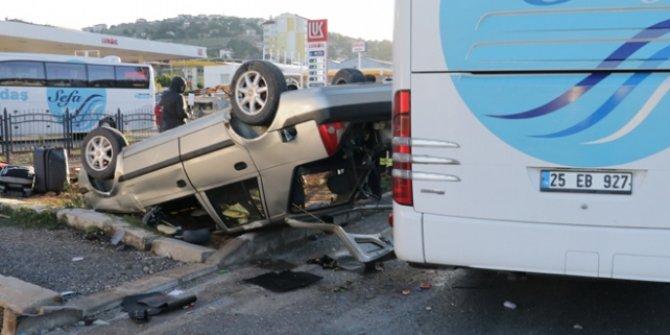 Yozgat'ta yolcu otobüsü ile otomobil çarpıştı