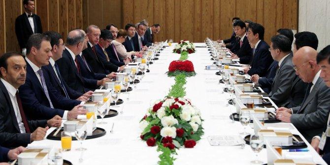 Erdoğan Japonya Başbakanı Abe ile görüştü!