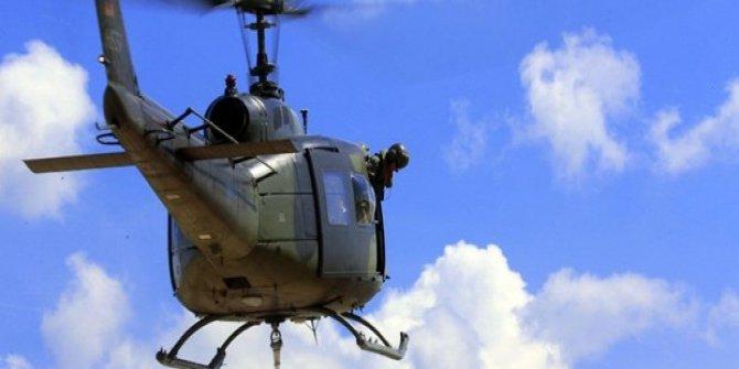 Ülkede askeri helikopter düştü: 1 ölü