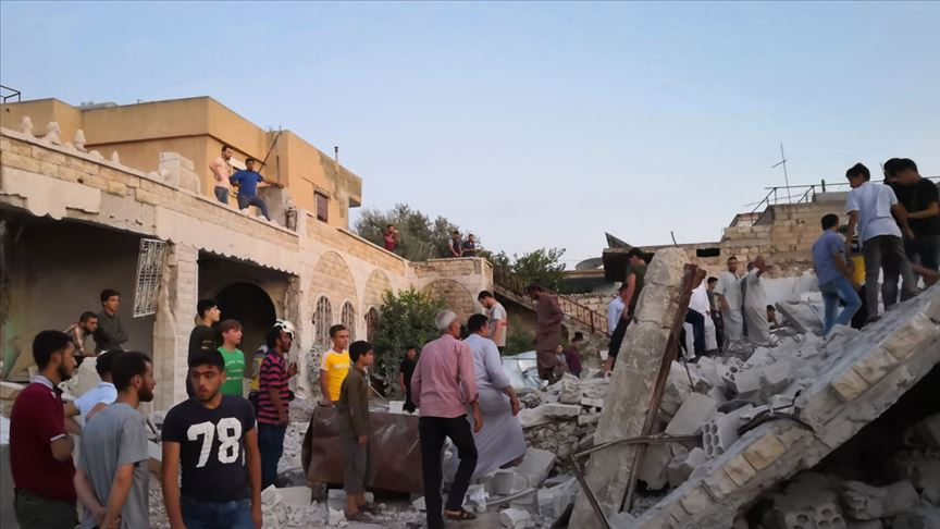 İdlib'e hava saldırısı: 2 ölü