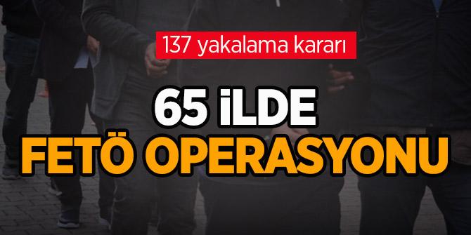 TSK'da FETÖ operasyonu: 65 ilde 137 yakalama kararı