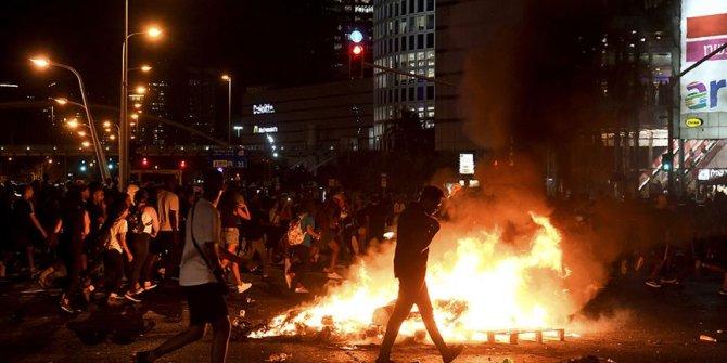 Irkçılığa isyan eden Etiyopyalı Yahudiler polisle çatıştı!