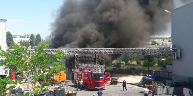 Bilecik'te Organize Sanayi Bölgesi'ndeki fabrikada yangını!