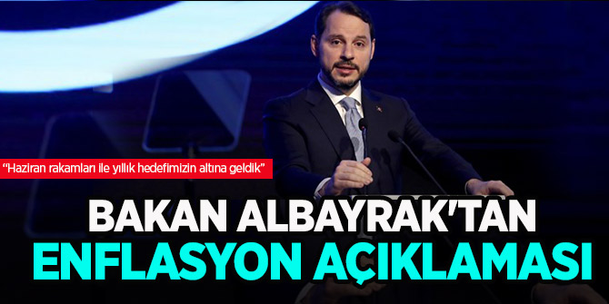 Berat Albayrak'tan enflasyon açıklaması!