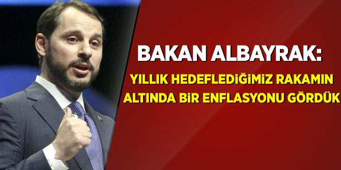 Bakan Albayrak: Yıllık hedeflediğimiz rakamın altında bir enflasyonu gördük