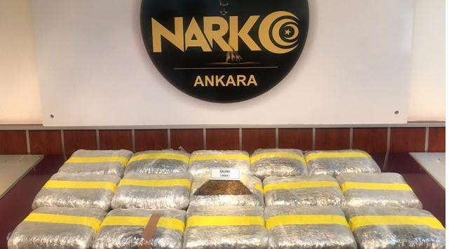 Ankara'da yılbaşından bu yana 264 kilo uyuşturucu ele geçirildi