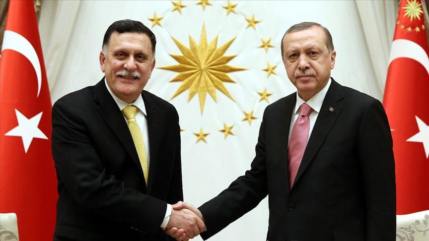 Cumhurbaşkanı Erdoğan, es-Serrac ile görüştü