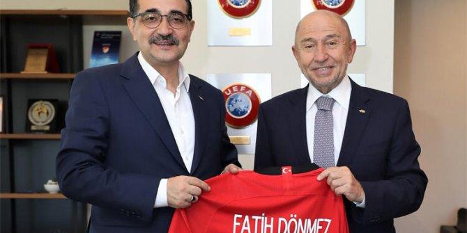 Enerji ve Tabii Kaynaklar Bakanı Dönmez'den TFF Başkanı Nihat Özdemir'e ziyaret