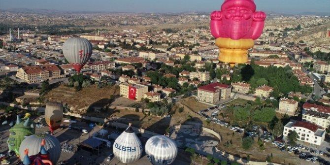 Balon Festivali'nden renkli görüntüler