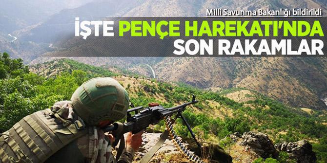Pençe Harekâtında 61 terörist etkisiz hale getirildi!