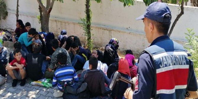 43 düzensiz göçmen yakalandı!