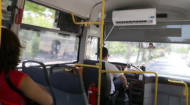 Yolcu minibüsüne duvar tipi klima taktı