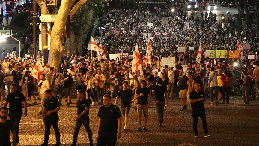 Gürcistan'daki protestolar 17. gününde de devam etti
