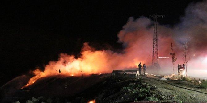 İzmir'de geri dönüşüm alanında yangın