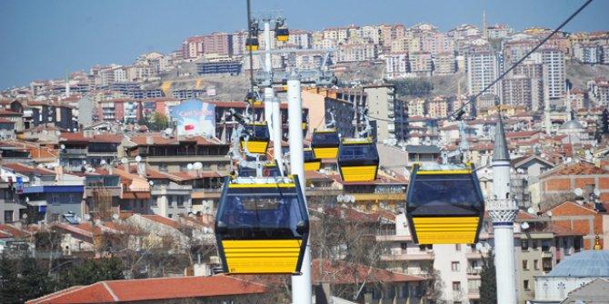 Ankara'da teleferik hattında bakım çalışması! (1 ay yok)
