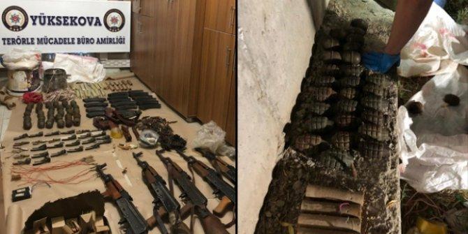 PKK'ya ait silah ve mühimmatlar ele geçirildi