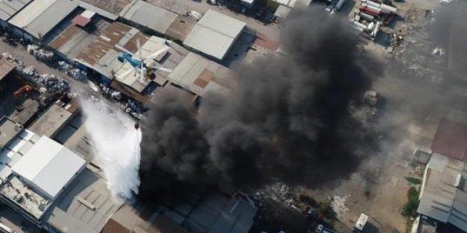 Adana'nın Seyhan ilçesinde yangının zararı büyük oldu