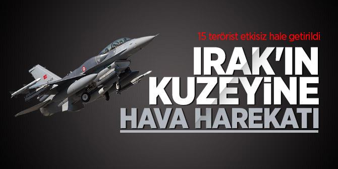 Irak'ta 15 terörist etkisiz hale getirildi