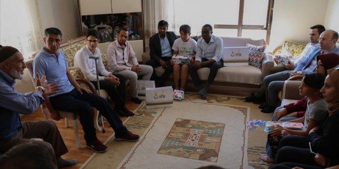 Uluslararası öğrencilerden 15 Temmuz gazi ve şehit ailelerine ziyaret