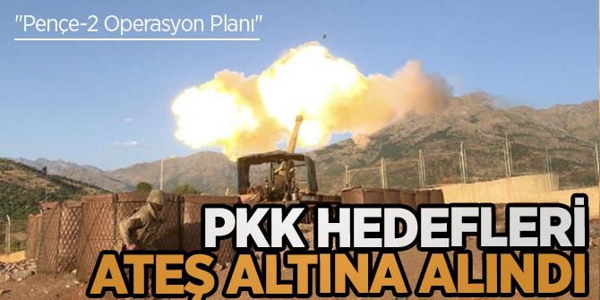 """""""Pençe-2 Operasyon Planı"""" çerçevesinde PKK hedefleri ateş altına alındı"""