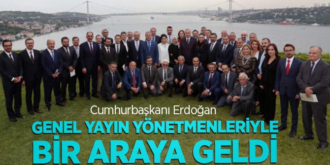 Erdoğan genel yayın yönetmenleriyle bir araya geldi!