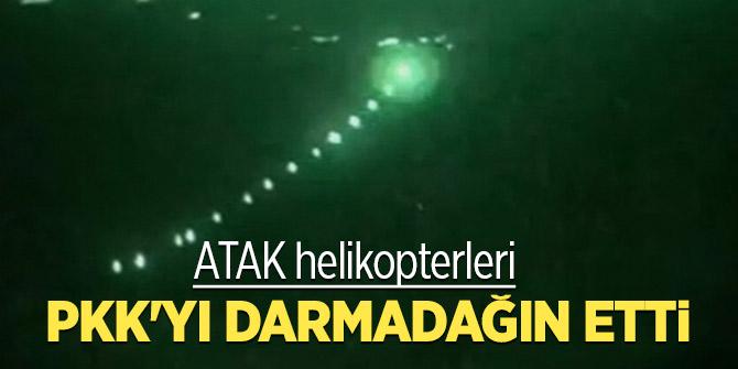 ATAK helikopterleri PKK'yı darmadağın etti