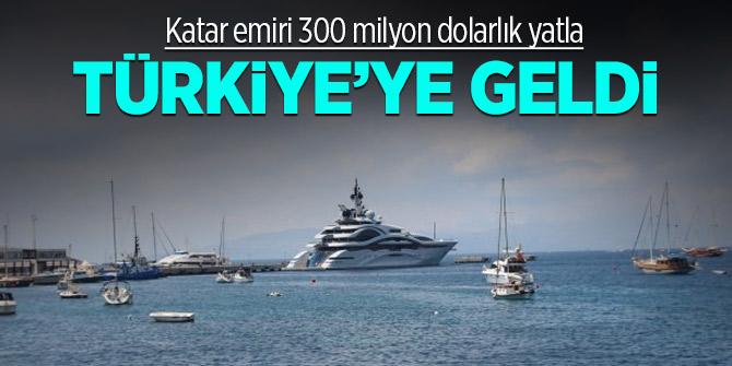 Katar emiri 300 milyon dolarlık yatla geldi!