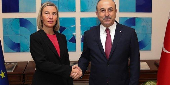 Bakan Çavuşoğlu, AB Komisyonu Başkan Yardımcısı Mogherini ile görüştü