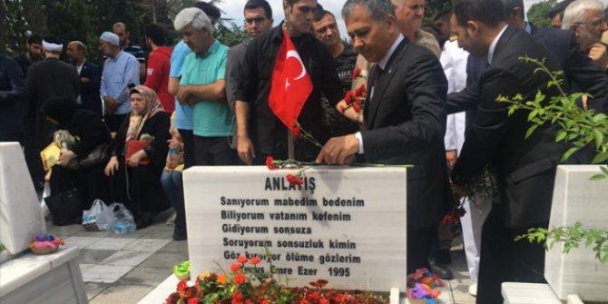 Edirnekapı'daki 15 Temmuz Şehitliği'ndeki  anma töreni