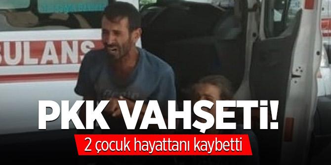 PKK vahşeti! 2 çocuğu hayattan kopardı