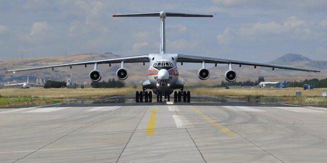 S-400 sevkiyatı sürüyor!  12. uçak Mürted Hava Üssü'ne indi