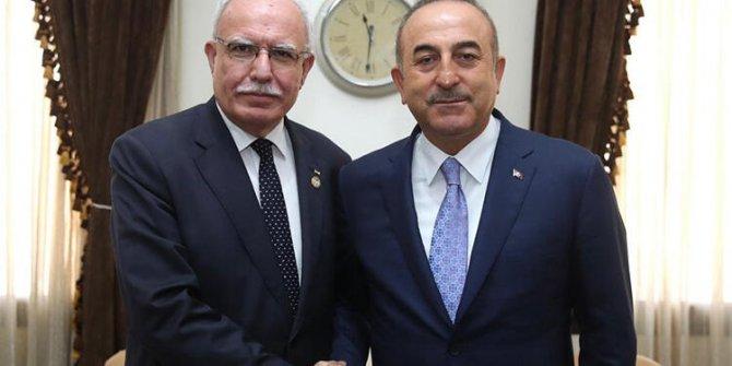 Çavuşoğlu, Filistinli mevkidaşı Malki ile görüştü!