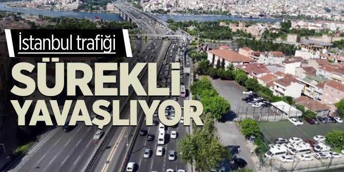 İstanbul trafiği sürekli yavaşlıyor