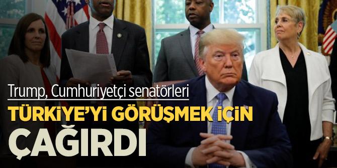 Trump, Cumhuriyetçi senatörleri Türkiye'yi görüşmek için çağırdı