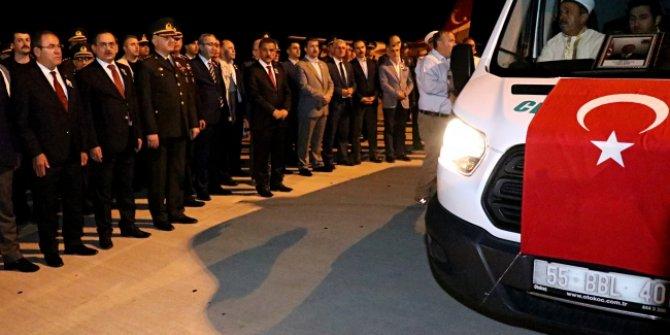 Şehit Jandarma Binbaşı Zafer Akkuş cenazesi Samsun'a getirildi