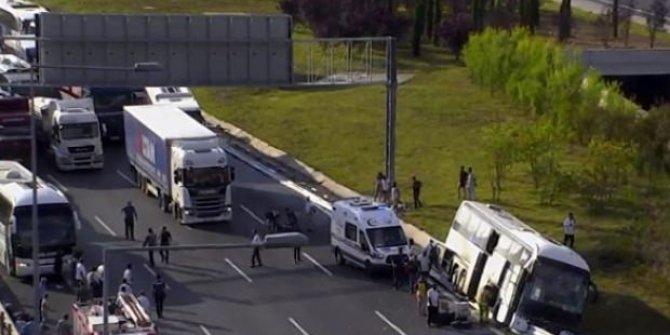 Yavuz Sultan Selim Köprüsü'nde trafik kazası yaşandı