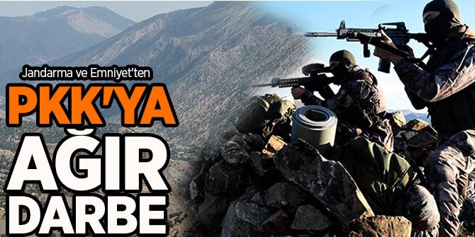 Bakanlık açıkladı! Jandarma ve Emniyet'ten PKK'ya ağır darbe