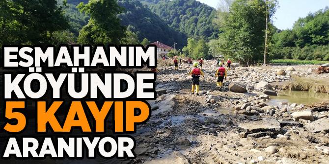 Esmahanım köyünde kaybolan  4'ü çocuk 5 kayıp aranıyor!