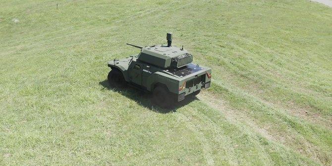 """Türkiye'nin ilk elektrikli zırhlı aracı """"Akrep IIe"""" arazide"""