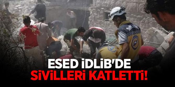 Esed İdlib'de sivilleri katletti!